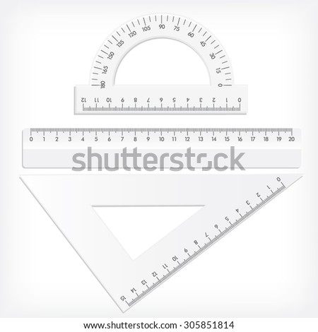 Ruler collection. Vector illustration.