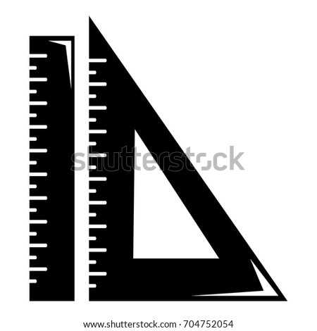 Ruler icon. Simple illustration of ruler vector icon for web