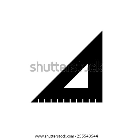 ruler instruments - black vector icon - stock vector