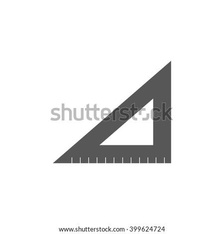 ruler instruments icon, black vector illustration - stock vector