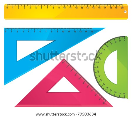 rulers vector - stock vector