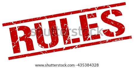rules stamp.stamp.sign.rules. - stock vector