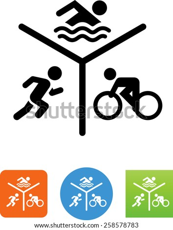 Run Bike Swim symbol for download. Vector icons for video, mobile apps, Web sites and print projects.