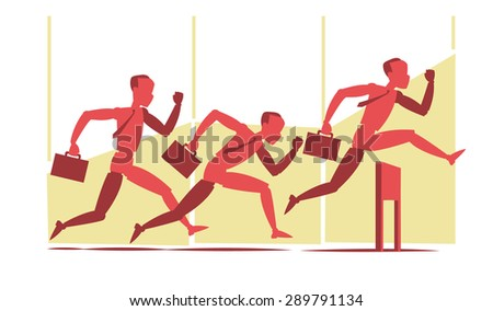 Run for the victory - stock vector