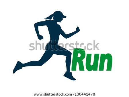 Run vector - stock vector
