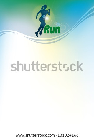 Run vector background - stock vector