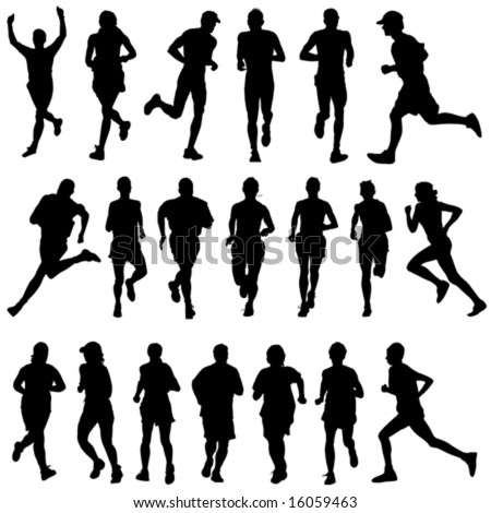 runner people vector 2