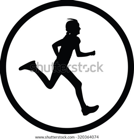 runner vector icon