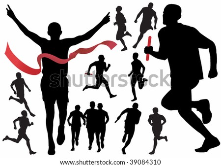 Runner. Vector illustration for you design - stock vector