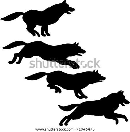 Running Dog Stock Vector 71946475 - Shutterstock