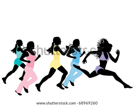 Running girls