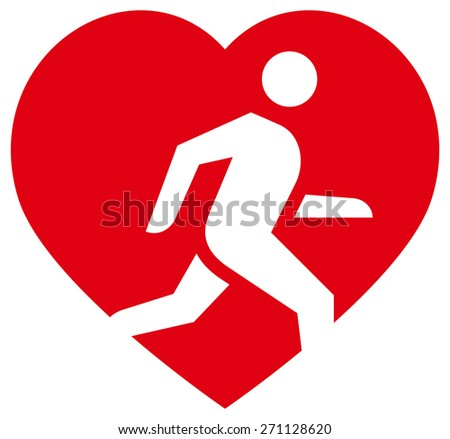 Running is life icon - stock vector