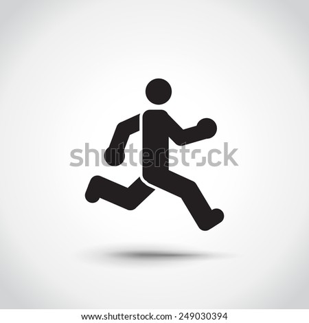 Running man logotype. Icon - stock vector
