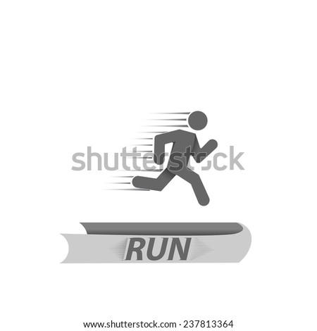 running man symbol vector illustration on a white background - stock vector