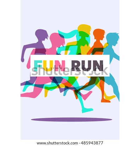 Running poster, Fun Run.