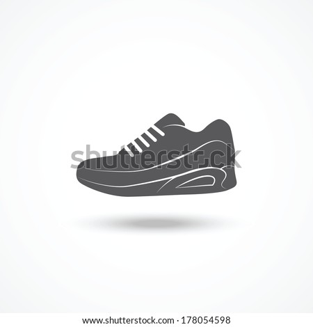 Running shoe icon - stock vector