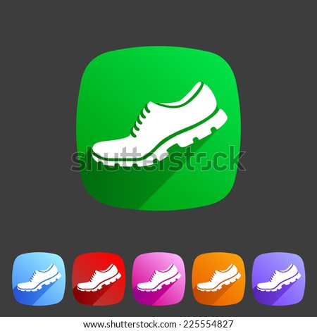 Running shoe, sneaker, trainer flat icon