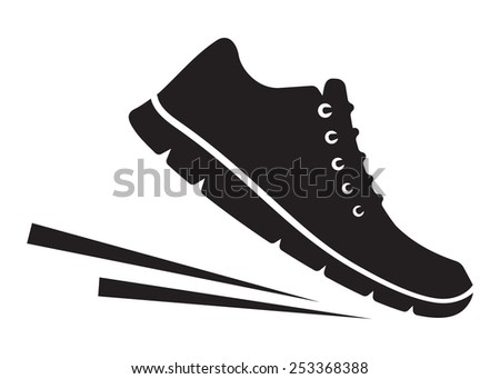Running shoes icon - stock vector