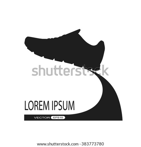 Running shoes icon. vector - stock vector