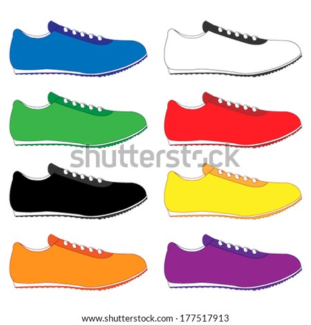 Running Shoes in Different Colours Blue White Green Red Black Yellow Orange Purple