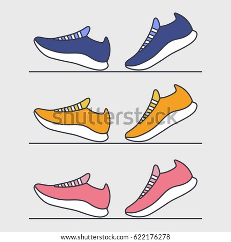 Running shoes. Sport. Fitness. Vector illustration