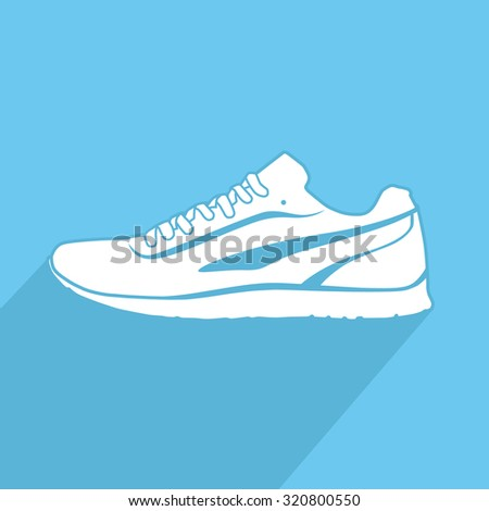 Running shoes. Sport shoes. Vector illustration - stock vector