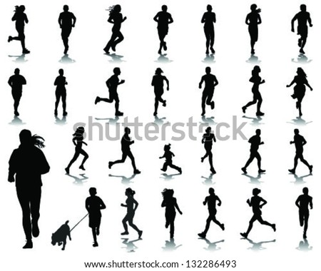 Running silhouettes 5-vector