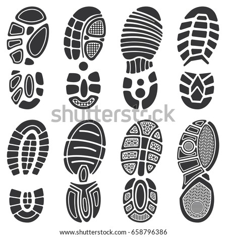 running sport shoes vector footprint set stock vector