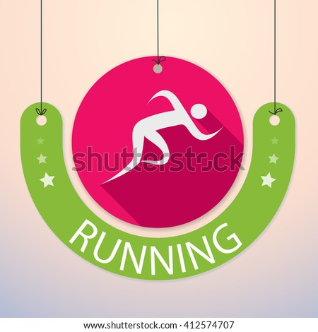 Running / Sprint / Marathon - Colorful Sports Icon