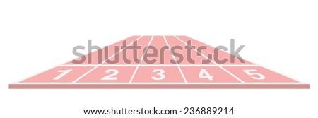 Running track in pink design - stock vector