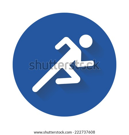 Running vector icon  - stock vector