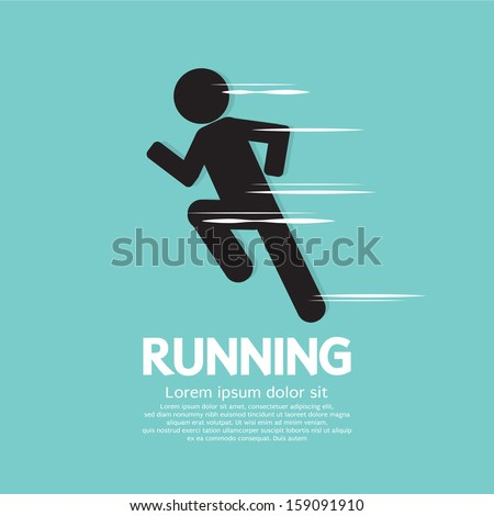 Running Vector Illustration EPS10 - stock vector