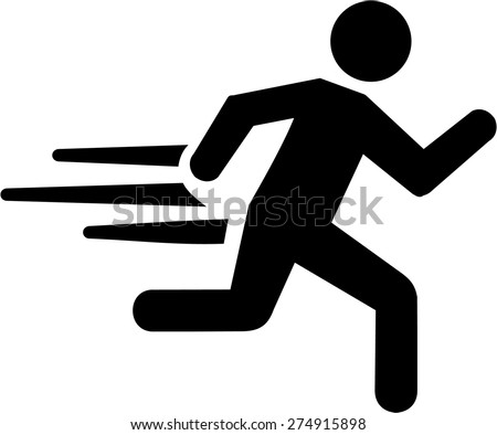 Running with speed - stock vector