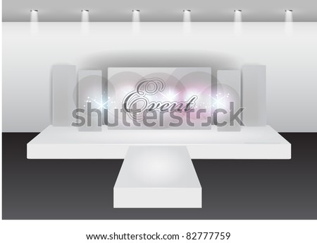 Runway fashion show stage - stock vector