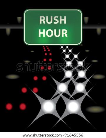 Rush Hour - stock vector