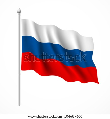 Russia flag, vector illustration - stock vector