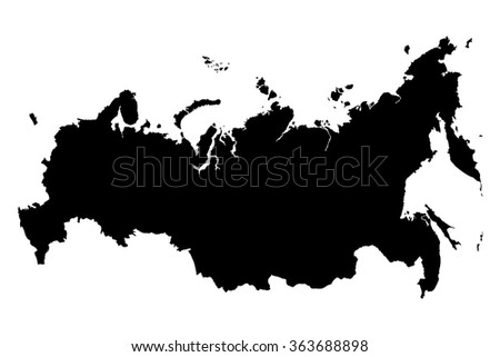 Russia map on blue degraded background vector - stock vector