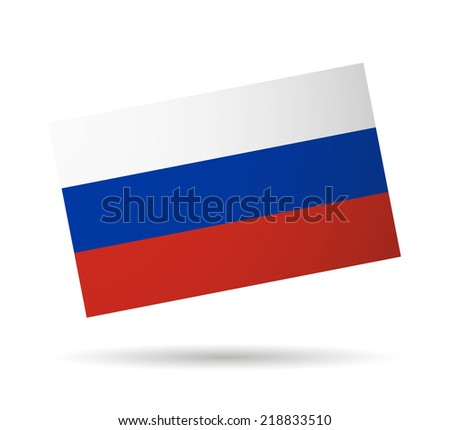 Russia  official flag isolated illustration  - stock vector