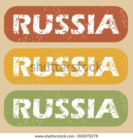 Russia on colored background