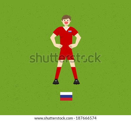 Russia Soccer Tables - stock vector