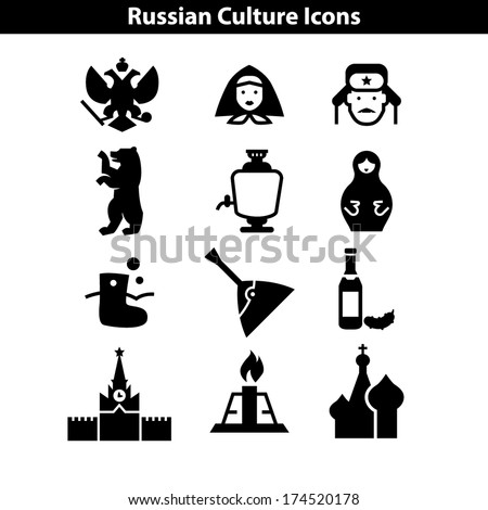 Russian Culure Icon - stock vector