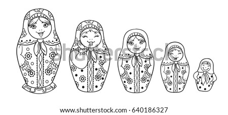 Russian dolls stock images, royalty free images & vectors Aladdin Coloring Pages russia coloring pages printable free russian coloring pages