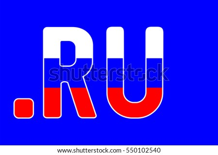 Russian Domain Name Extension Russian Flag Stock Vector 550102540