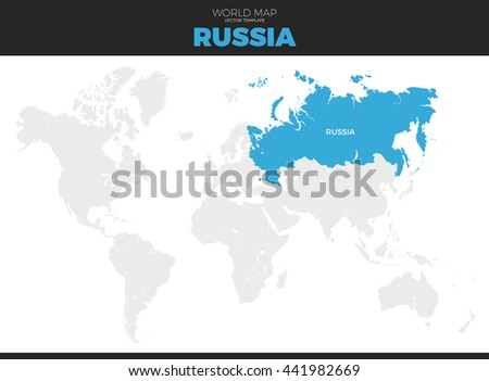Russian federation russia location modern detailed stock vector russian federation russia location modern detailed vector map all world countries without names sciox Image collections