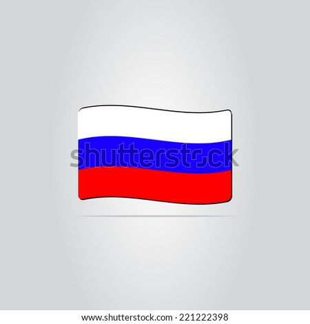 Russian flag on the background. Made in vector - stock vector