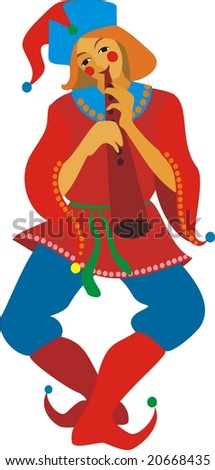 russian traditional jester - stock vector
