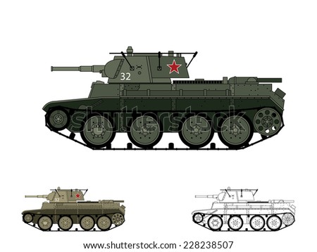 Russian WW2 BT-7 tank