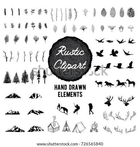 Rustic Nature Clip Art