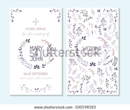 Rustic vintage pastel template design layout stock vector 500598583 rustic vintage pastel template design layout for wedding invitation thank you card save the stopboris Choice Image