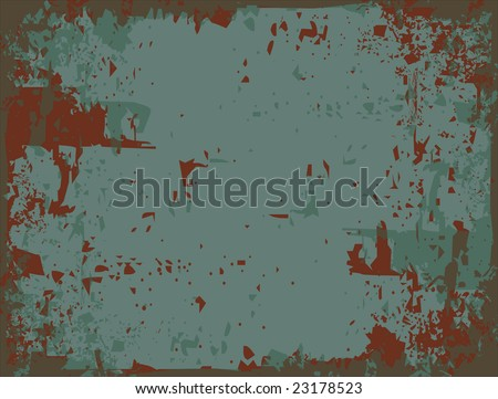 Rusty metal abstract vector background - stock vector
